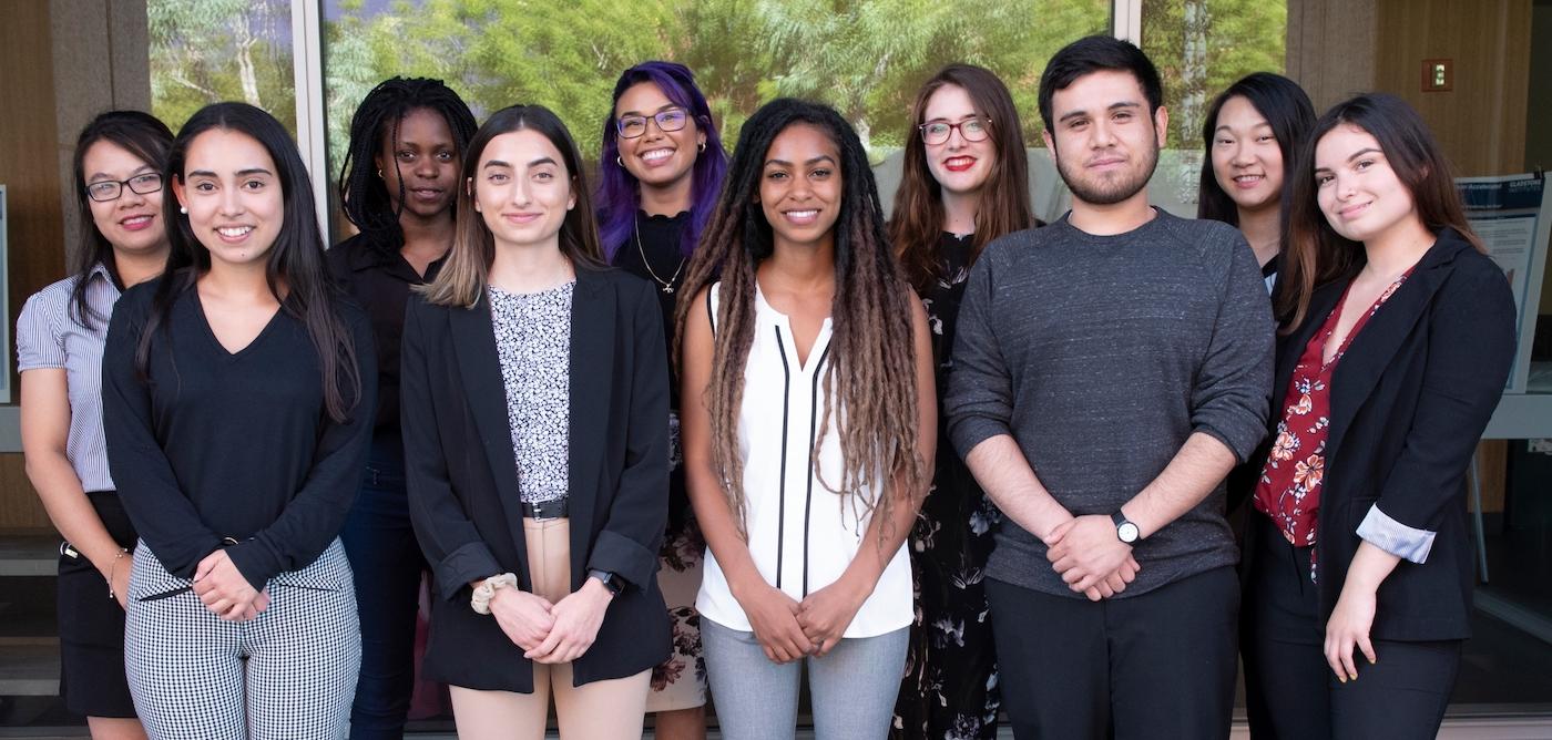 Group photo of 2019 PUMAS interns
