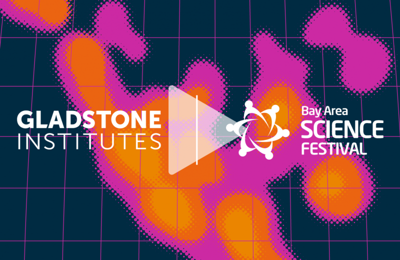 Heat map with Gladstone Logo and Bay Area Science Festival Logo